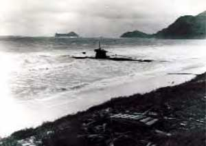 Beached Submarine in 1941